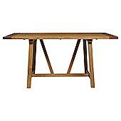 Portobello 6 Seat Trestle Dining Table, Rustic Pine