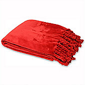 Riva Home Dorset Red Throw - 140x200cm