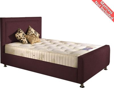 Valufurniture Calverton Bed Frame - Aubergine - Small Single 2ft6