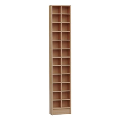 Techstyle Tall Sleek CD / DVD Media Storage Tower Shelves - Oak