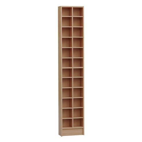 Techstyle Tall Sleek CD / DVD Media Storage Tower Shelves - Oak