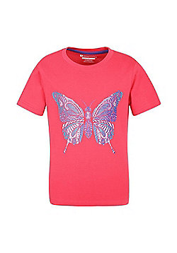 Mountain Warehouse PATTERNED BUTTERFLY KIDS TEE - Pink