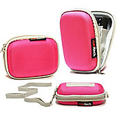 Pink Water Resistant Hard Digital Camera Case Cover