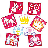 Fairy Themed Stencils for Children to Create Decorate and Personalise Scenes and Collages (Pack of 6)