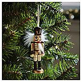 Gold Nutcracker Christmas Tree Decoration