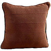 Homescapes Cotton Rajput Ribbed Chocolate Cushion Cover, 45 x 45 cm