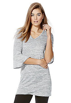 F&F Marl Bell Sleeve Tunic - Grey