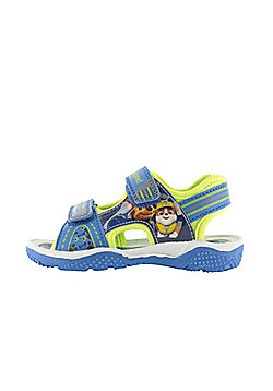 Boys Paw Patrol Blue & Green Sport Sandal Beach Walking Childrens Shoes 5-10 - Blue