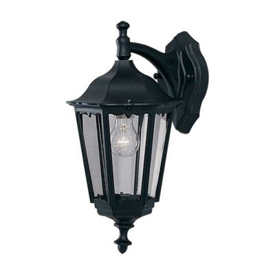 BEL AIRE OUTDOOR WALL LIGHT - 1 LIGHT BLACK DOWNLIGHT