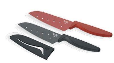 Red Colori Santoku Knife