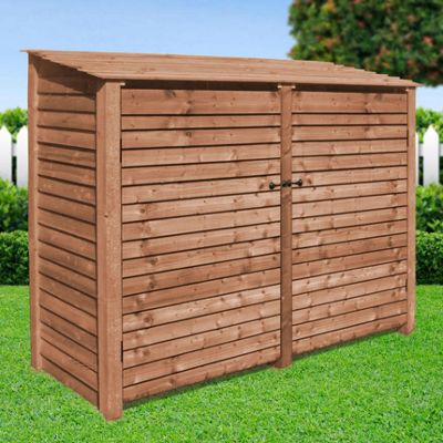 Normanton wooden log store with doors - 6ft