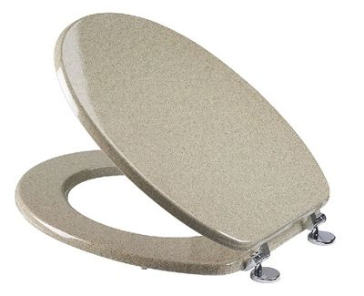 Croydex Sandstone Moulded Wood Toilet Seat - Sandstone Effect
