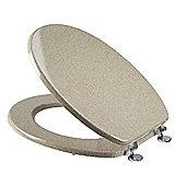 Croydex Sandstone Moulded Wood Toilet Seat - Sandstone Effect