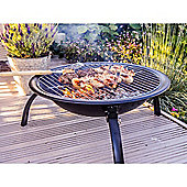 Bar-Be-Quick 54cm Portable Firepit with Cooking grill, & Carrybag