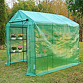Outsunny Walk in Garden Greenhouse with Shelves Removable Cover 244x182x213cm