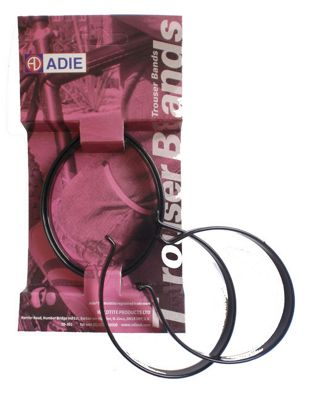 Adie PVC Covered Trouser Bands in Black