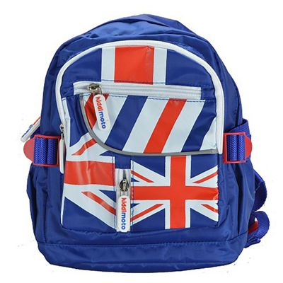 Kiddimoto Small Childs Backpack Union Jack with padded shoulder straps