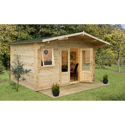 Forest Garden Nevis Log Cabin 4.0m x 4.0m 34mm