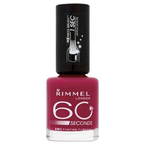 Rimmel 60 Seconds Nail Polish Funtime Fuchsia