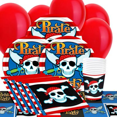 Pirate Skull Value Party Pack for 8