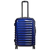 Tesco Vienna Medium 8 wheel Gloss Blue Suitcase