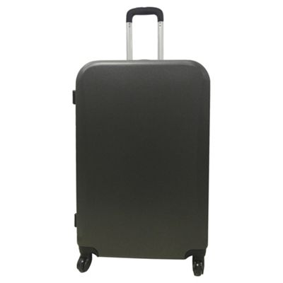 Buy Tesco Berlin 4 wheel Hard Shell Dark Grey Large Suitcase from ...