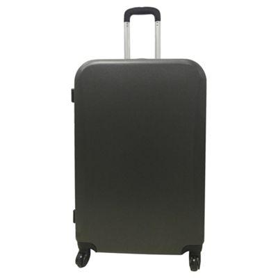 Buy Tesco Berlin 4 wheel Hard Shell Dark Grey Large Suitcase from ...