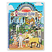 Melissa and Doug Puffy Sticker Activity Book Riding Club