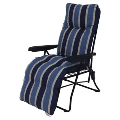 Padded Garden Reclining Chair Blue Stripe  sc 1 st  Tesco & Buy Padded Garden Reclining Chair Blue Stripe from our Garden ... islam-shia.org