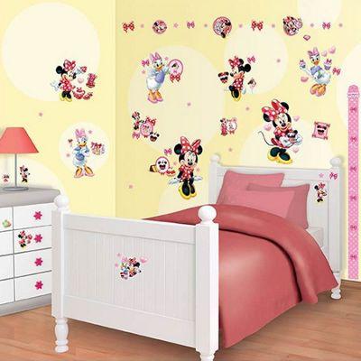 Walltastic Disney Minnie Mouse Room Decor Kit - 79 Stickers