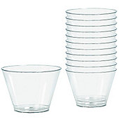 Clear Plastic Tumbler Glasses - 255ml - 20 Pack