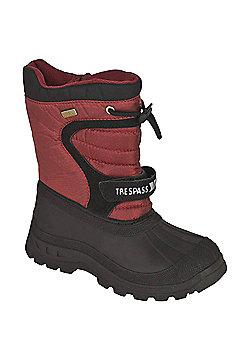 Trespass Kids Kukun Winter Snow Boots - Red