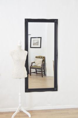 Large Black Shabby Chic Ornate Big Wall Mirror Bargain 5Ft6 X 2Ft6 165Cm X 75Cm