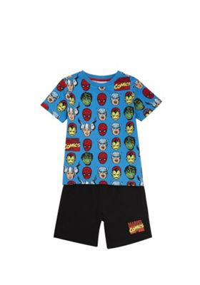 Marvel The Avengers T-Shirt and Shorts Set Blue/Multi 12-18 months