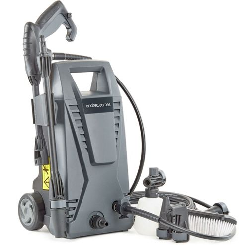 Andrew James Immacuclean Jet Washer Pressure Cleaner with 5 Attachments - Grey