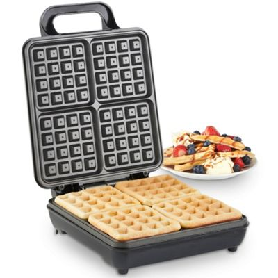 VonShef 1100W Quad Belgian Waffle Maker