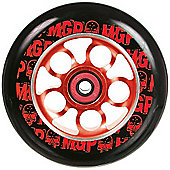 Madd Gear MGP Aero Skull 110mm Scooter Wheel Including Bearings - Red