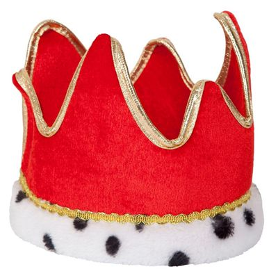 Adult King Queen Crown Hat Fancy Dress Party Accessory