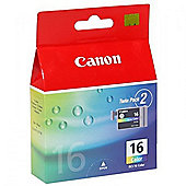 Canon BCI-16C (Colour) Ink Cartridge (Pack of 2)
