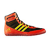 adidas Mat Wizard 3 Mens Adult Wrestling Trainer Shoe Boot Red/Black - Red