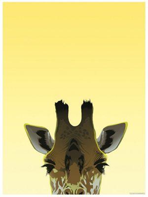 Inquisitive Creatures Giraffe Mini Poster 32 x 44cm
