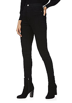 F&F High Rise Tube Pant Skinny Jeans - Black