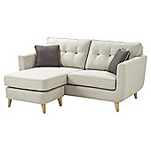 Chester Retro Button Back Left Hand/Right Hand Corner Sofa, Light Grey