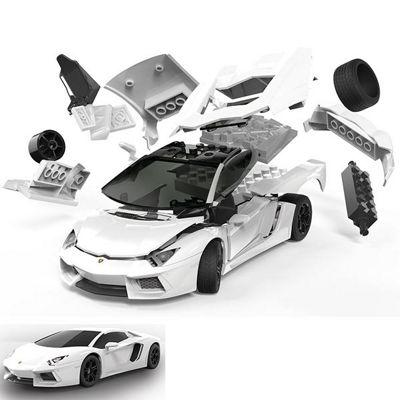 AIRFIX J6019 QUICKBUILD Lamborghini Aventador new colour Car Model Kit