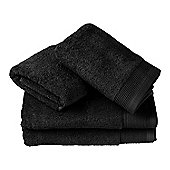 Homescapes Black 100% Combed Egyptian Cotton 4 Piece Luxury Towel Bale 700 GSM
