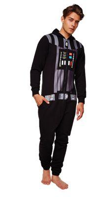 Star Wars Darth Vader Hooded Jumpsuit -Large