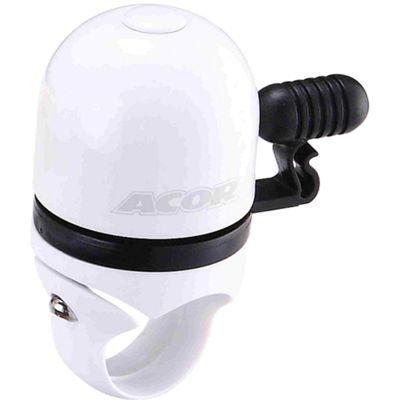 Acor Capsule Mini Bicycle Bell, White/Black