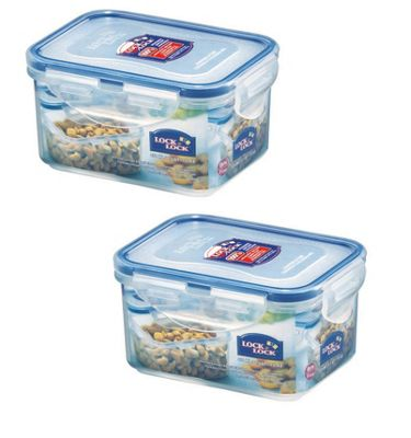 Lock & Lock 470ml Small Storage Containers, Set of 2