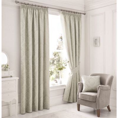 Serene Laurent Silver Lined Curtains 66x72 Inches (168x183cm)