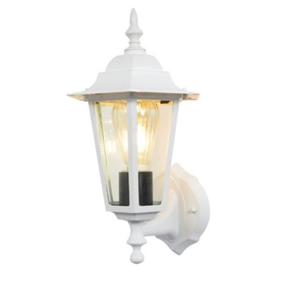 Litecraft Carmel 1 Bulb Outdoor Lantern Wall Light, White
